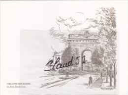 CHALONS Sur MARNE(51) La Porte Sainte Croix :dessin Roland IROLLA 76 (carte Double Toilée) - Châlons-sur-Marne