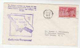 1950 SAN LOUIS OBISPO EVENT COVER California Statehood USA Stamps - United States