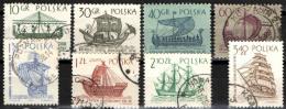 POLONIA - 1963 - IMBARCAZIONI ANTICHE - Oblitérés