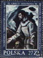 POLONIA - 1984 - ESTASI DI SAN FRANCESCO - DIPINTO DI EL GRECO - Gebraucht