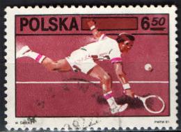 POLONIA - 1981 - 60° ANNIVERSARIO DELLA FEDERAZIONE DEL TENNIS POLACCA - Gebraucht
