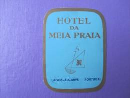 HOTEL PENSAO RESIDENCIA PENSION STALAGEM MEIA PRAIA LAGOS ALGARVE DECAL LUGGAGE LABEL ETIQUETTE AUFKLEBER PORTUGAL - Hotel Labels