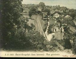 J.J. Saint Gingolph Lac Leman La Gare Eisenbahnstrecke Railroad Chemin De Fer Um 1920 - VS Valais