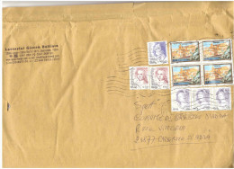 BUSTA GRANDE AFFRANCATURA MISTA MULTIPLA - 2001-10: Poststempel