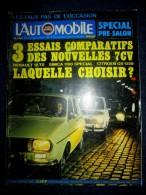 L´AUTOMOBILE 316 Sept.1972 Auto Car Sport Course F1 Rallye Essais RENAULT 12 TS SIMCA 1100 Special CITROEN GS 1220 ! - Auto/Moto