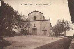 83 FAYENCE FL 26  PLACE THIERS EGLISE - Fayence