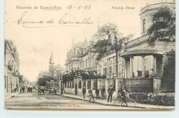RECUERDO DE BUENOS AIRES - Avenida Alvear. - Argentine