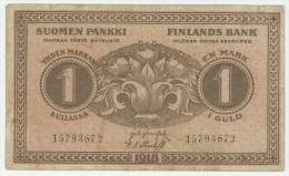 Finland 1 Markka 1918 Pick 35 F/VF - Finland