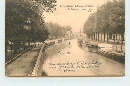 TOURNAI - L´escaut En Amont Du Pont Des Trous. (péniches) - Tournai