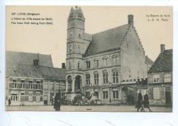 Belgique : Loos - Hotel Ve Ville Datant De 1640 - La Guerre De 1914 LCH Paris (animée) - Lo-Reninge