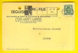 DEGUISNE FABRIQUE BOULONNERIE FORGE DECOUPAGE Place Genicot 5 AUDERGHEM - Briefkaart Carte Postale Galacor Loppem 2033 - Auderghem - Oudergem