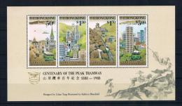 Hong Kong 1988 Bergbahn Block 10 ** - 1997-... Sonderverwaltungszone Der China