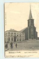 CHATELINEAU - église Et Maison Communale (carte Vendue En L'état). - Belgique