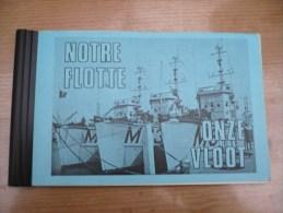 Notre Flotte Onze Vloot Marine Belgie Force Navale Oostende Met Foto's Staf Zeemacht 52 Pag - Books, Magazines, Comics