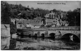 Beaumont Le Roger Eure Panorama Pont Ruines 1910 état Superbe - Beaumont-le-Roger