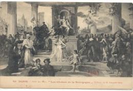 """-69--DIJON--SALLE DES ETATS--"""" LES GLOIRES DE LA BOURGOGNE """" TABLEAU DE H.LEOPOLD LEVY--NON ECRITE-- - Dijon"""