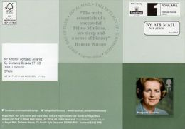 ROYAL MAIL COMMUNICATION STAMPS EMISSION 2014 PRIME MINISTERS - CHUCHILL THATCHER - Gran Bretaña