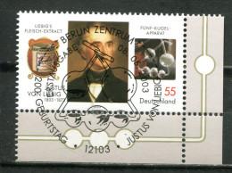 """Germany 2003 Michel Nr.2337 """"200.Geb. Von Justus Freiher Von Liebig,Chemiker,Chem.Appa Ratur """" 1 Wert Used,gestp. - Chimica"""