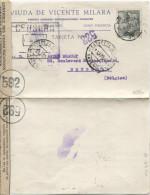 TP 40 CFranco C.Valencia En 1945+Estafeta De Cambio Gde Cebsure Esp.Rect.bde Contr.com.592 PT1501 - 1931-Aujourd'hui: II. République - ....Juan Carlos I