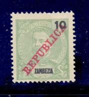 ! ! Zambezia - 1911 D. Carlos 10 R - Af. 57 - MH - Zambezia