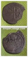 CHARLES VIII DE BRETAGNE / MONNAIE NOIRE / HARDI De Bretagne  / état :B - 1483-1498 Karel VIII Van Frankrijk