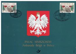 België 2782 Gemeenschappelijke Uitgifte 1998 Warchau Polen Ambassade - Cartas Commemorativas