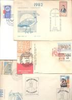 LOTES DE 10 SOBRES Y TARJETAS DEL URUGUAY FDC O SPECIAL COVERS CIRCULADOS Y NO CIRCULADOS DIFERENTES - Kilowaar (max. 999 Zegels)