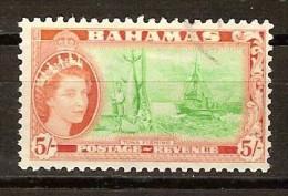 Bahamas 1954 Yvertn° 160 (°) Used Cote 10 Euro Faune Pêche Du Thon - 1859-1963 Colonie Britannique