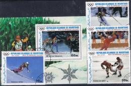 BB 269 REPUBLIEK ISLAMIQUE DE MAURITANIE GESTEMPELD YVERT NRS LP 251/254 + BLOK 52 ZIE SCAN - Stamps