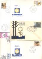 LOTES DE 25 SOBRES Y TARJETAS DEL URUGUAY FDC O SPECIAL COVERS CIRCULADOS Y NO CIRCULADOS DIFERENTES - Kilowaar (max. 999 Zegels)
