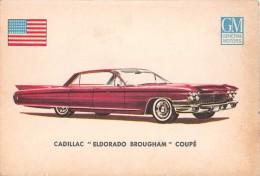 """02769 """"CADILLAC ELDORADO BROUGHAM COUPE´""""  CAR.  ORIGINAL TRADING CARD. """" AUTO INTERNATIONAL PARADE, SIDAM - TORINO""""1961 - Engine"""