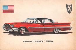 "02771 ""CRYSLER WINDSOR SEDAN""  CAR.  ORIGINAL TRADING CARD. "" AUTO INTERNATIONAL PARADE, SIDAM - TORINO""1961 - Engine"