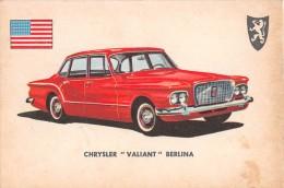 "02772 ""CRYSLER VALIANT SEDAN""  CAR.  ORIGINAL TRADING CARD. "" AUTO INTERNATIONAL PARADE, SIDAM - TORINO""1961 - Motori"