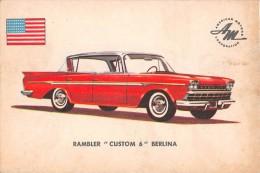 """02774 """"RAMBLER MATADOR SEDAN""""  CAR.  ORIGINAL TRADING CARD. """" AUTO INTERNATIONAL PARADE, SIDAM - TORINO""""1961 - Engine"""