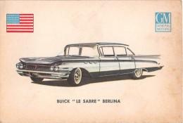 "02776 ""BUICK LE SABRE SEDAN""  CAR.  ORIGINAL TRADING CARD. "" AUTO INTERNATIONAL PARADE, SIDAM - TORINO""1961 - Engine"
