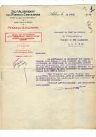 ALGERIE:  Sté   Algérienne Des Mines Du Gueldaman   , Akbou Prés De Bougie1942 - France
