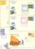 LOTES DE 75 SOBRES Y TARJETAS DEL URUGUAY FDC O SPECIAL COVERS CIRCULADOS Y NO CIRCULADOS DIFERENTES - Kilowaar (max. 999 Zegels)