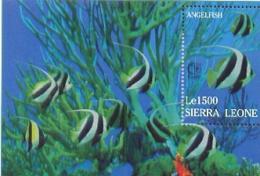 SIERRA LEONE   1802 MINT NEVER HINGED SOUVENIR SHEET OF FISH-MARINE LIFE  #   899-4  ( - Fische