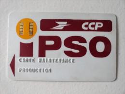 """VERY RARE: CARTE DE MAINTENANCE PRODUCTION """" CCP IPSO """" - Francia"""