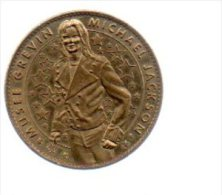 REF 1  : Arthus Bertrand Médaille Touristique Jeton Musée Grevin Mickael Jackson - Arthus Bertrand