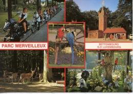 Grand Duché De Luxembourg : Bettembourg - Souvenir De Parc Merveilleux (multivues N°15) Multivues Ara Manège Chevaux - Bettembourg