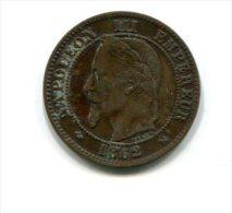 2 Centimes Napoléon III 1862 K - Francia