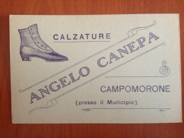 CARTOLINA  PUBBLICITARIA CALZTURE CANEPA - CAMPOMORONE - GENOVA - Publicidad