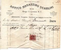 1899 FIRENZE  FABBRICA DI TESSUTI DI LINO E DI CANAPA - Italia