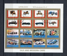 AJMAN 1973 Mi # 2765 - 2780 IMPERF OLD And MODERN CARS CTO USED - Ajman