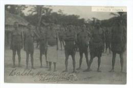 Congo Le Village de BALIMBOLA + timbre quinze cemtimes avec surcharge congo belge