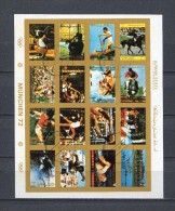 AJMAN 1973 Mi # 2621 - 2636 IMPERF OLYMPIC GAMES CTO USED - Ajman