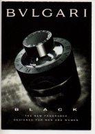 REF 186 CPM Freecard BULGARI Black Parfum - Pubblicitari