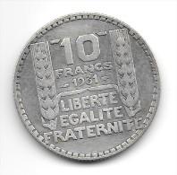 10 F TURIN 1931 - France