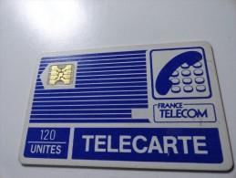 VERY RARE : CARRE BLANC ENTRE 2 LIGNES SUR PYJAMAS SC4OB 120U LOGO FRANCE TELECOM - Variëteiten